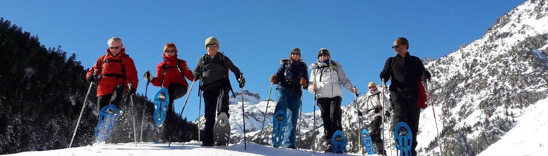 accompagnateur montagne Pyrénées : raquettes Saint Lary
