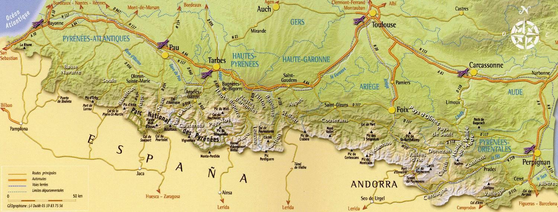 Carte Pyrénées